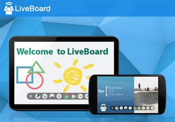 App LiveBoard Pizarra para varios dispositivos - Facoria Creativa