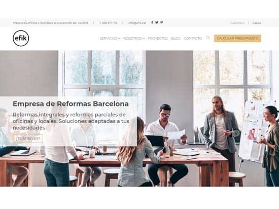 efik empresa reformas barcelona